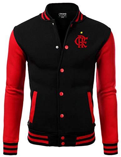 Flamengo Jaqueta College Americana Preta/Vermelha Bordada (P)