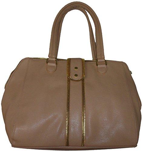 Olivia & Joy Large Melrose Tote Handbag,Tan