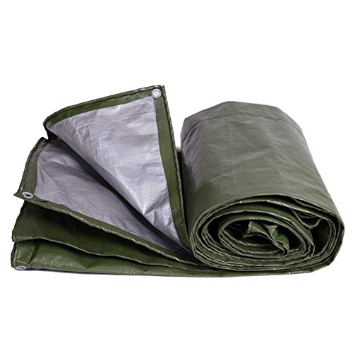 ZHUAN Lona Impermeable Resistente a la Lluvia Carpa de Muebles para el Clima Ojal galvanizado Accesorios de jardinería Jardín al Aire Libre, 22 tamaños (Color: Verde, Tamaño: 2X3m)