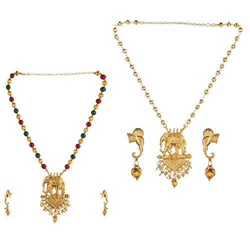 Efulgenz Indian Bollywood Traditional Gold Plated Crystal Faux Kundan Pearl Wedding Choker Necklace Earrings Jewelry set (Style 3)