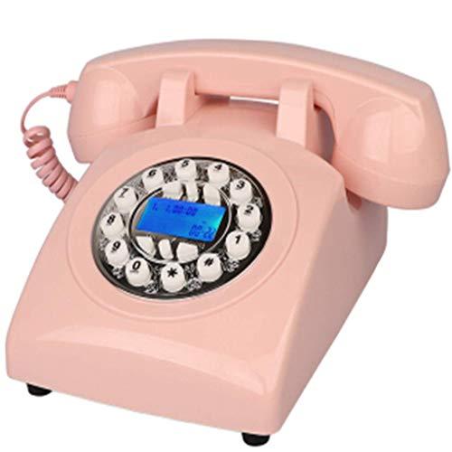 ZHTY Teléfono Vintage Estilo años 70 Teléfono Fijo Retro, Auténtico Tono Retro Teléfono Fijo Retro