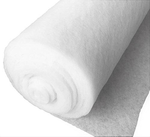 naninoa ®, Schnee- Matte Schneematte Schneedecke Dekoschnee Kunstschnee 100g/m² Rolle 10,0m x 1,0m x 1cm