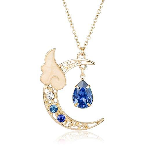 Halskette Mode Frauen Halskette Romantische Serie Sailor Moon Wing Charm Anhänger Hot Anime Cosplay Cardcaptor Sakura Schmuck