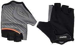 Prophete Unisex– Erwachsene Fahrrad-Handschuhe mit Geleinlage, Größe S/M, schwarz