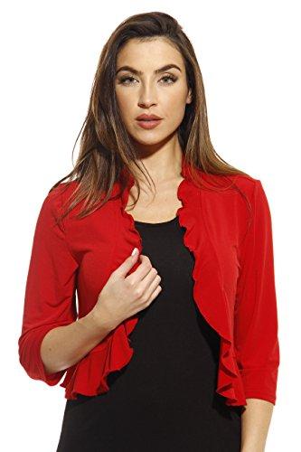 Just Love 401572-RED-XL Shrug/Shrugs/Women Cardigan
