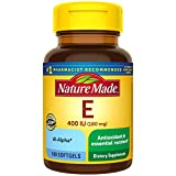 Nature Made Vitamin E 180 mg (400 IU) dl-Alpha Softgels, 100 Count for...