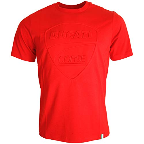 Ducati Corse Offizielles MotoGP Relief Logo T-Shirt Rot - L