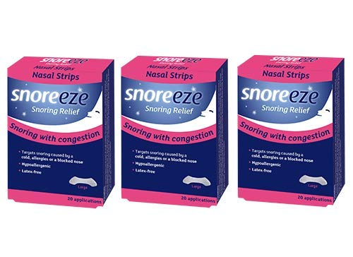 Triple Pack - Snoreeze Snoring Relief Nasal Strips - Large