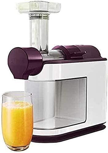 Mezclador de alimentos mezclador de pie, mezclador de prensa de frío, juicer fruta y jugo de verduras con un motor silencioso centrífugo, función anti-goteo, acero inoxidable y no contiene BPA, mezcla