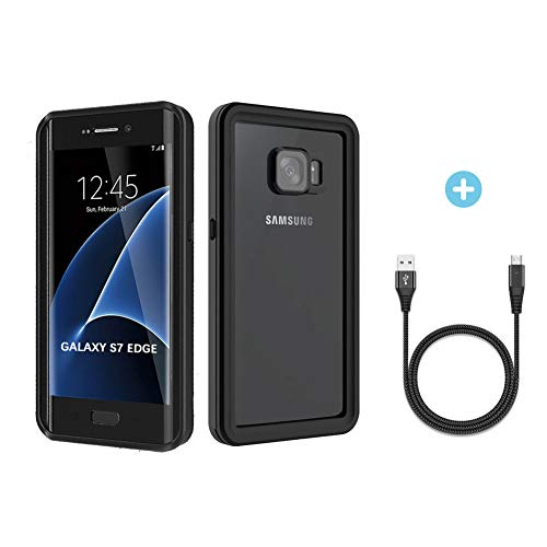 Waterproof Case for Galaxy S7 Edge - Verhux Underwater Full Body Clear Protective Cover with Military Tested Shockproof Design