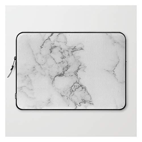 Luxury White Marble by Artonwear on Laptop Sleeve - Laptop Sleeve - 15'