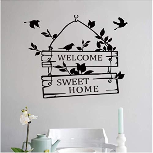 STPillow Wandsticker - Welkom Sweet Home deurbord decoratie wandtattoos decoratieve muursticker voor thuis