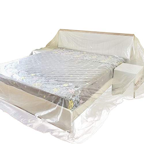 HANSHI 4 Sizes Optional Dustproof Patio Dust Covers, Breathable Bed Sofa Couch Furniture Protector Cover Shelter, Bed Dust Covers For Long Term Storage HZC182 (03: 78.7' x 118' inch)