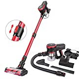 MOOSOO Cordless Vacuum Cleaner, 23Kpa Stick Handheld Vacuum with Brushless Motor Multi-attachments Detachable...