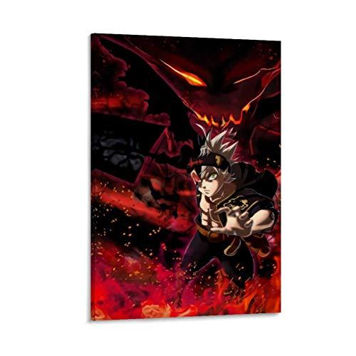 DRAGON VINES Póster de anime Trébol Negro Demonio Asta Pintura Póster Arte Sala Dormitorio Oficina Decoración del Hogar 30 x 45 cm