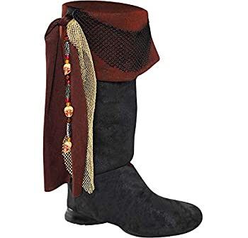 AMSCAN Deluxe Pirate Boot Tops Halloween Costume Accessories for Adults One Size