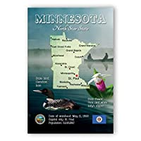 MINNESOTA MAP postcard set of 20 identical postcards. WI state map post cards. Made in USA. [並行輸入品]