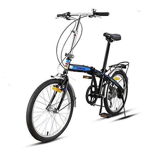 AUTOKS Vélo Pliant, 20 Pouces 7 Vitesses vélo de Ville vélo Cadre en Acier à Haute teneur en Carbone, Voiture de Loisirs élégante, vélo étudiant à Vitesse Variable