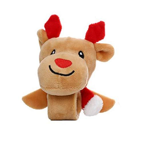 Fleymu Braccialetto Babbo Alce di Natale Mano Circle Regalo per Bambini Decorazioni Natalizie Cerchio Bambino Peluche Braccialetti Adatto per Natale Regali di Compleanno Durable Handy (Alci Di Natale)