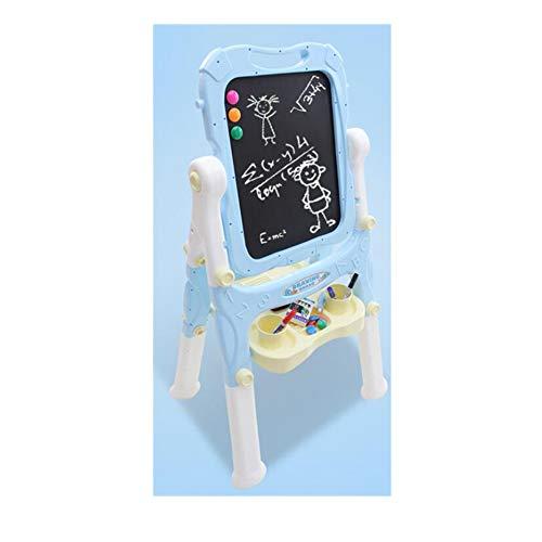 WDXIN Tableau de Dessin pour Enfants avec chevalet Double magnétique Tableau d'écriture avec Rotation Rapide à 360 ° Hauteur Stable et réglable Facile à Ranger pour Les garçons et Les Filles,Blue