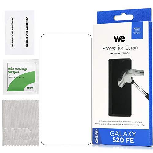 WE Cristal templado para Samsung Galaxy S20 FE – Película protectora de pantalla antiarañazos – Antiburbujas de aire ultra resistente – Dureza 9H cristal