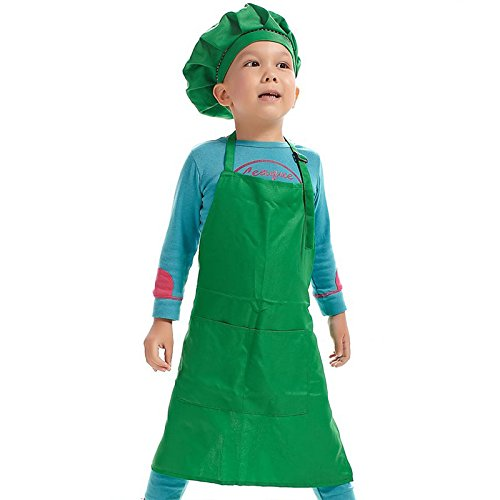 KIICN Grillschürze Kind Einfarbig Grillschürze Polyester Küchenschürze 55 * 51 cm