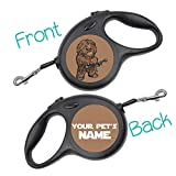 uDesignUSA Disney Themed Retractable Dog Leash Personalized w/Your Pet's Name (Chewbacca, Small 16ft)
