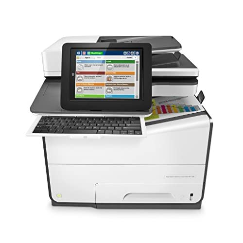 HP PageWide Enterprise Color Flow MFP 586z Stampante Multifunzione Stampa, copia, scansione e fax, Bianca