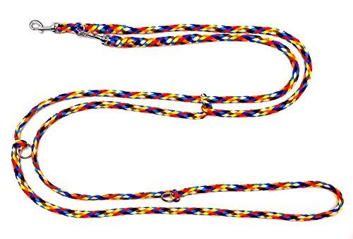 elropet Hundeleine f. kleine Hunde Doppelleine 2,80m 4fach verstellbar Navajo