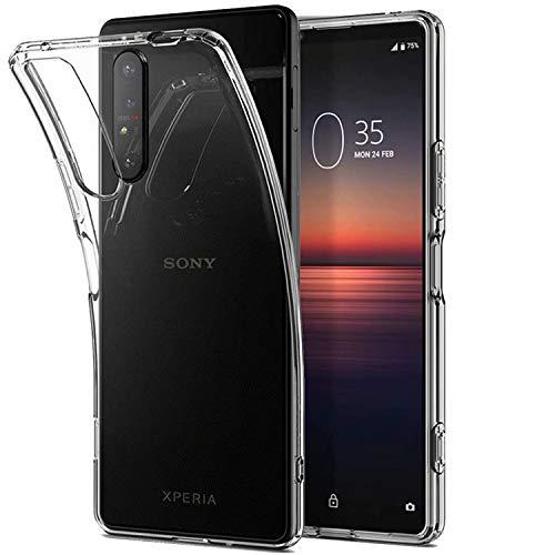 cookaR für Crystal Clear Sony Xperia 1 II Hülle, Transparent Silikon TPU Hülle Superdünn Soft Cover Handyhülle Schutzhülle für Xperia 1 II Smartphone, Transparent