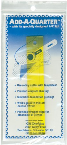 CM Designs Add-A-Quarter 15,2 cm gelbes Lineal, 15,2 cm