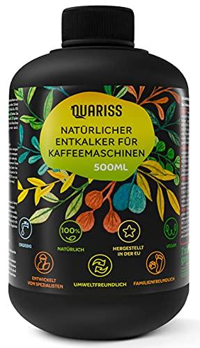 Quariss Universeller Entkalker für Kaffeemaschinen 500ml - 100{771149cc9e0cdf90a223dfaf56e28539fa7a74bcd890f22df0afbf340d12e600} Natürlicher Flüssigentkalker für Kaffevollautomaten & Espressomaschinen Vegan Ökologisch Alternative