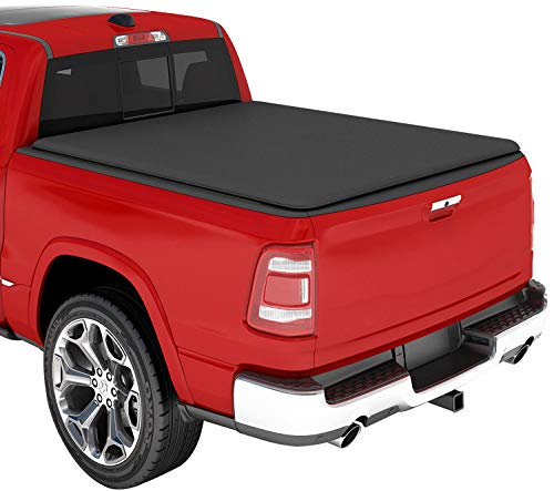 KSCPRO Truck Tonneau Covers Soft Roll Up Fits 2009-2021 Dodge Ram 1500 5.8 Feet Bed, Fleetside (Does Not Fit with Multi-Function Tailgate and Rambox)