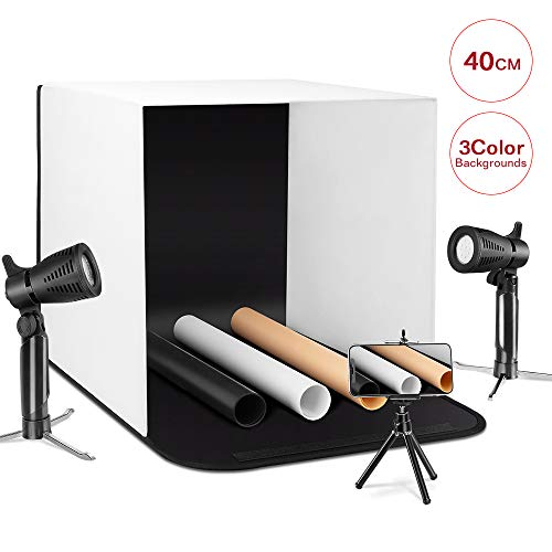 ESDDI Photo Light Box Photography 16'x16'/40x40cm Portable Table Top Lighting Shooting Tent Kit...