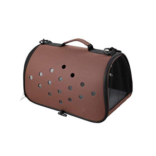 Cages JXLBB Sac pour Animaux de Compagnie Portable Teddy Dog Bathing Cat Bag Sortie Cat Petit Voyage Cat Backpack Convient pour Animaux Jusqu'à 4 kg (Color : Brown)