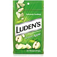 25 Count Ludens Throat Drops, Green Apple