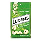 Ludens Throat Drops, Green Apple, 25 Count