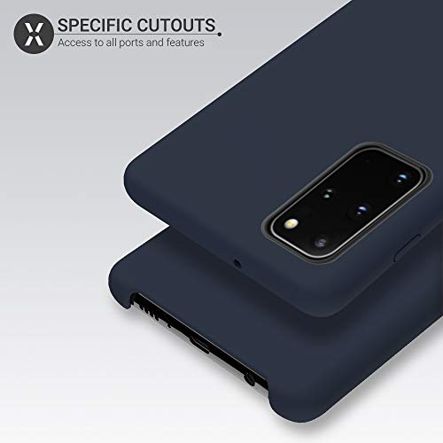 Olixar for Samsung Galaxy S20 Plus Silicone Case - Soft Touch - Smooth Thin Protective Cover - Wireless Charging Compatible - Midnight Blue