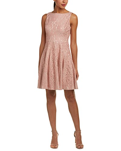 Eliza J Women's Flared Dress with Inset Wasitband, Pink, 6