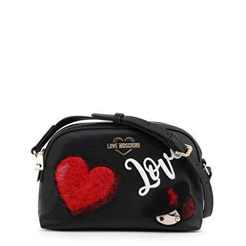 Love Moschino Jc4094pp18lp0000, Bolsa de mensajero Unisex Adulto, Negro (Nero), 17x7x26 centimeters (W x H x L)