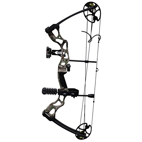 Southland Archery Supply SAS Outrage 70 Lbs 30'' Compound Bow Package (Camo with Black Accessories)