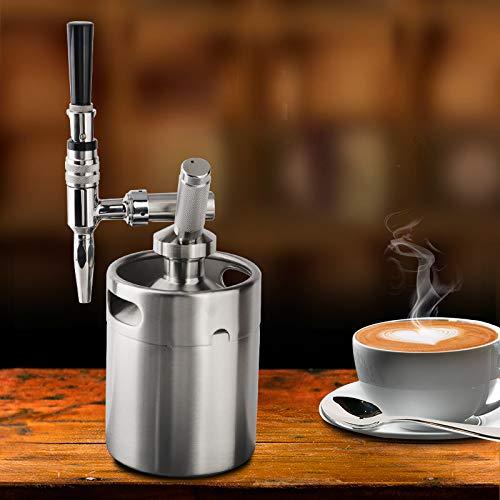 SHIJING Nitro fría Brew Cafetera 64 Onza Mini del Acero Inoxidable Barril de Cerveza casera de café Sistema Kit