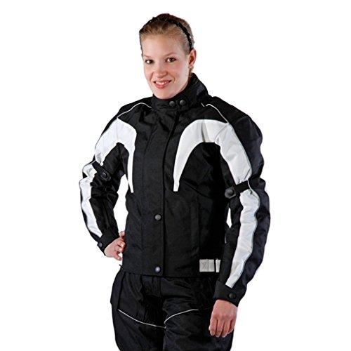 Lemoko Damen Textil Motorradjacke schwarz Gr XXL - 2