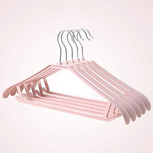 FFYN Hållbar, smal och platsbesparande hängare, hängare för garderob, perfekt som kostym jacka plagg klänning kjol garderob skåp skena garderob 20 st. Rosa.