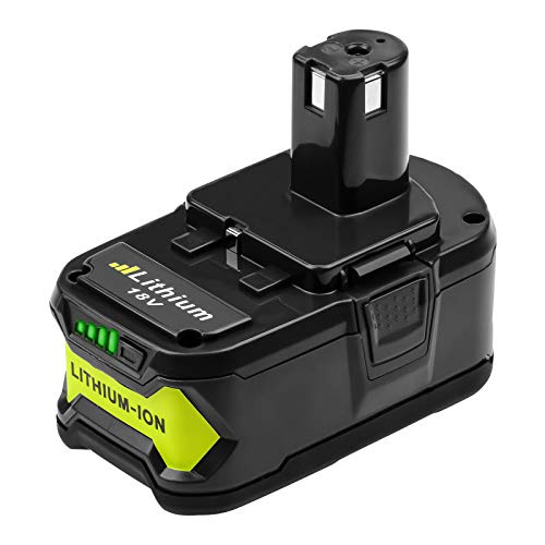 5.0Ah P108 Battery Replacement for Ryobi 18V Battery One Plus Lithium ion P102 P103 P104 P105 P107 P190 P122, Compatible with Ryobi 18 Volt ONE+ Cordless Power Tools