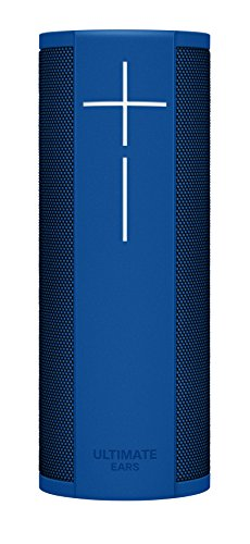 Ultimate Ears MEGABLAST Portable Waterproof Wi-Fi and Bluetooth Speaker with Hands-Free Amazon Alexa Voice Control - Blue Steel