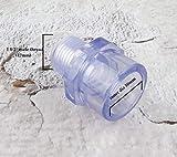 Xinger 2Pcs PVC Tubo de Rosca Macho Transparente Conectores Rectos Iguales rápidos Tubo de Agua Conector rápido Junta de riego de jardín, 1.5 pulgadas-50 mm