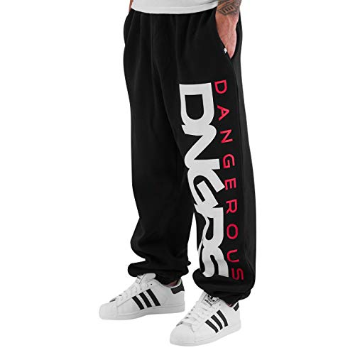 Dangerous DNGRS Männer Classic Sport Jogginghose Sweatpants Schwarz/Rot 6XL