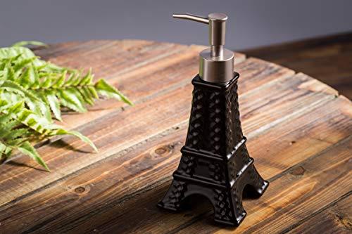 Amgend Keramische Handseife-Unterflaschen-Duschgel-Lotionsflasche Des Französischen Mode-Badezimmerwaren-Spezielle Druckflüssigkeitsflasche, Schwarzer Schwarzer Entlastungskontrollturm