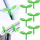 Sprout Little Green Bookmarks Mini Green Sprout Bookmarks Silicone Grass Buds Bookmarks Creative Gifts for Bookworm Book Lovers Reading (6)